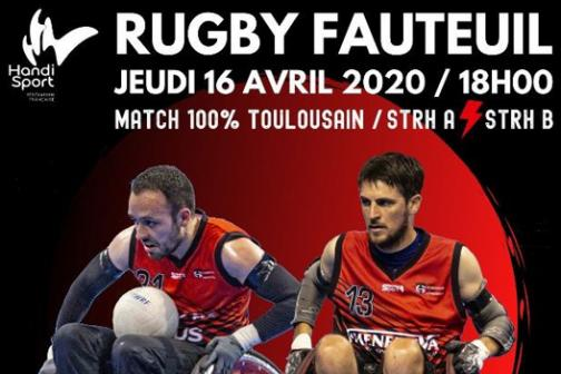 Rugby Fauteuil : match 100 % toulousain